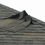 Major shingle damage